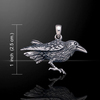 Raven Pendant (Sterling Silver)