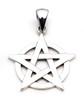 Pentagram Overlaying Circle Pendant (Sterling Silver)