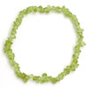 Peridot Crystal Chip Bracelet (Mini Chips)