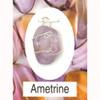 Ametrine Wire Wrap Silver Pendant