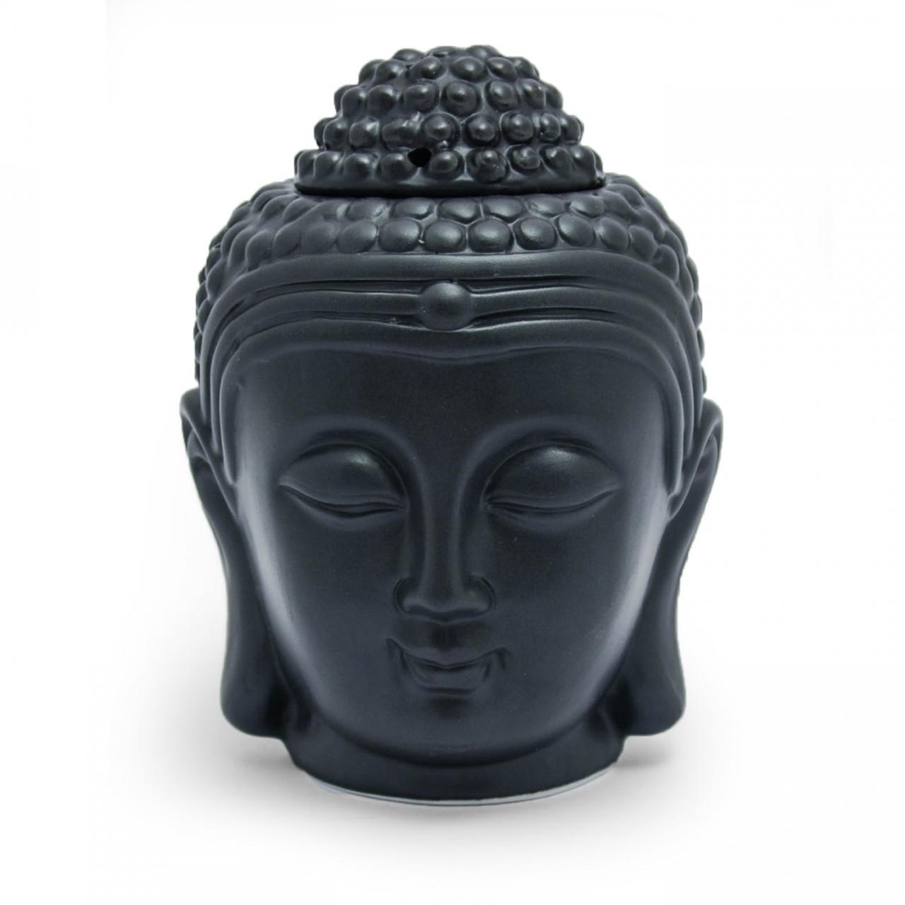 Buddha Head Oil Burner (Black)