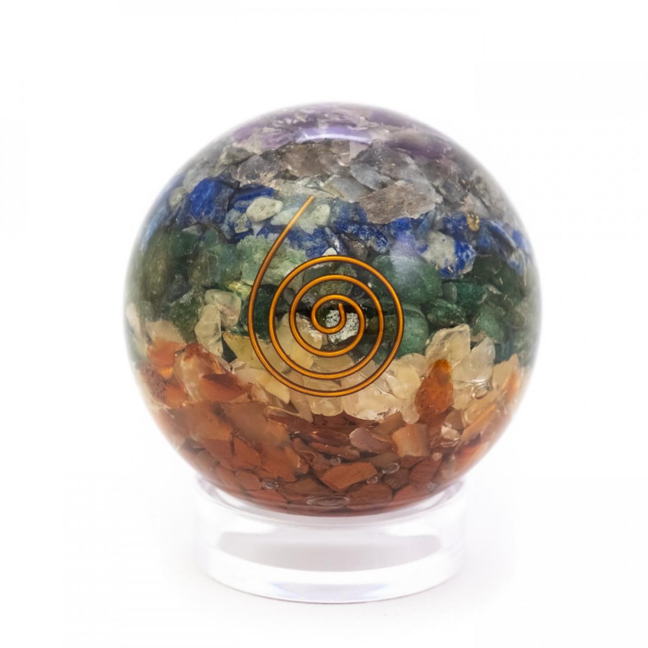 Chakra Orgone Sphere with Reiki Symbol