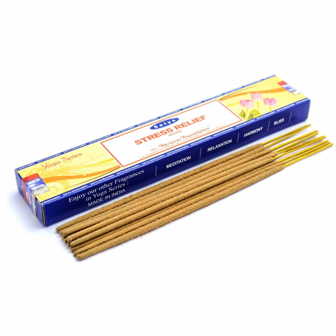 Stress Relief Satya Incense Sticks (Yoga Series)