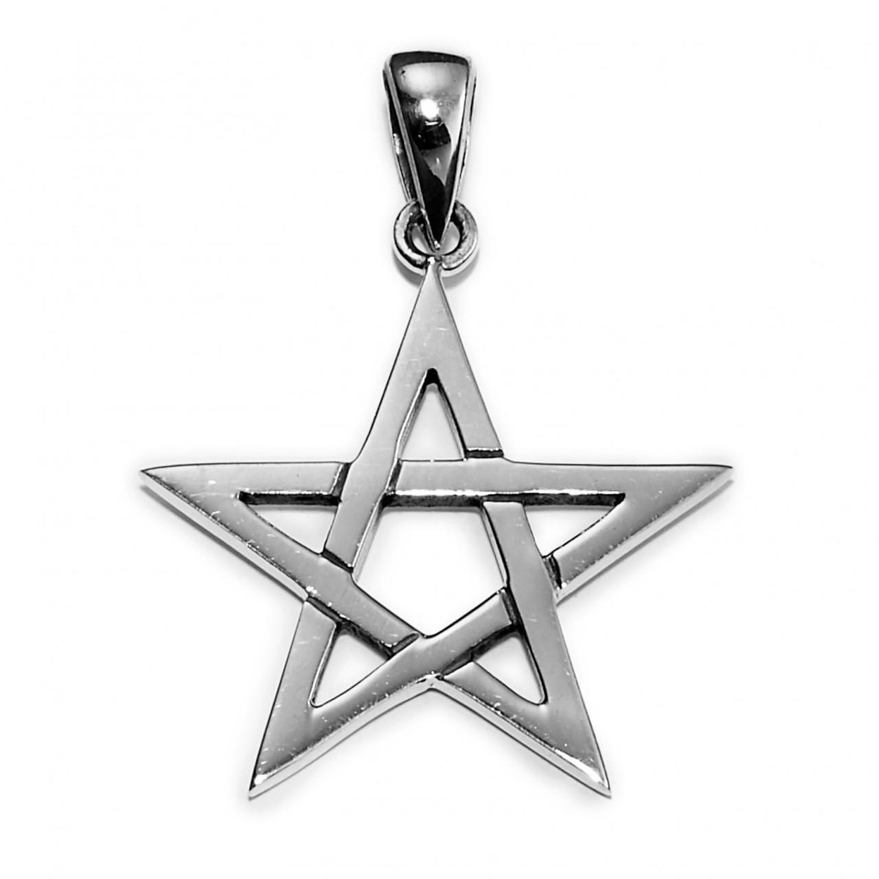 Medium Pentagram Pendant (Sterling Silver)