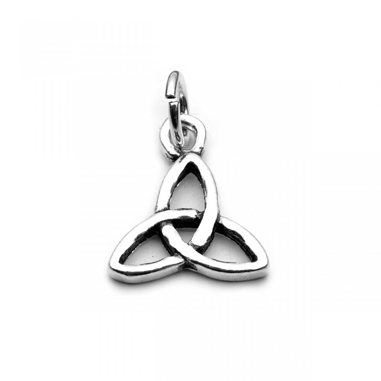 Tiny Three Become One Charm / Pendant (Sterling Silver)