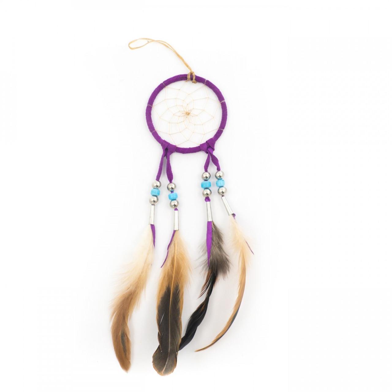 Small Purple Navajo Dream Catcher (3 Inch)