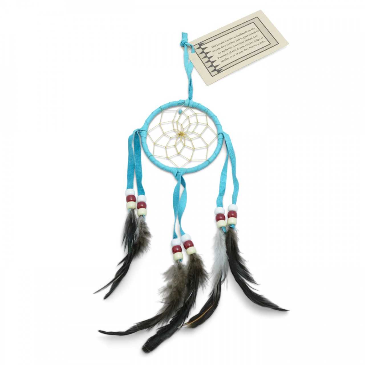 Small Turquoise Navajo Dream Catcher (3 inch)