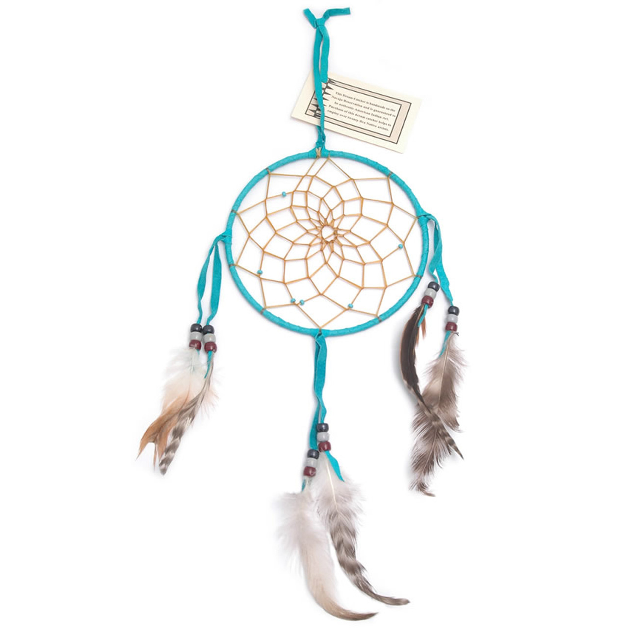 Large Turquoise Navajo Dream Catcher (6 inch)
