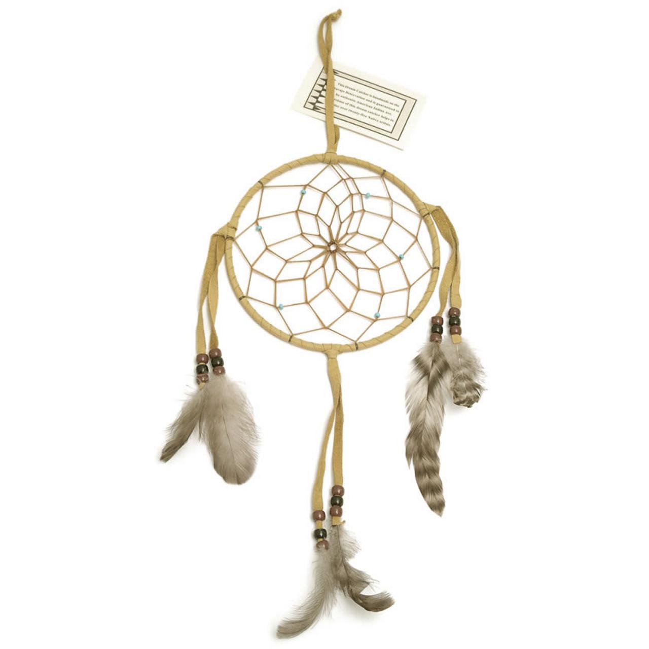 Large Light Brown Navajo Dream Catcher (6 inch)