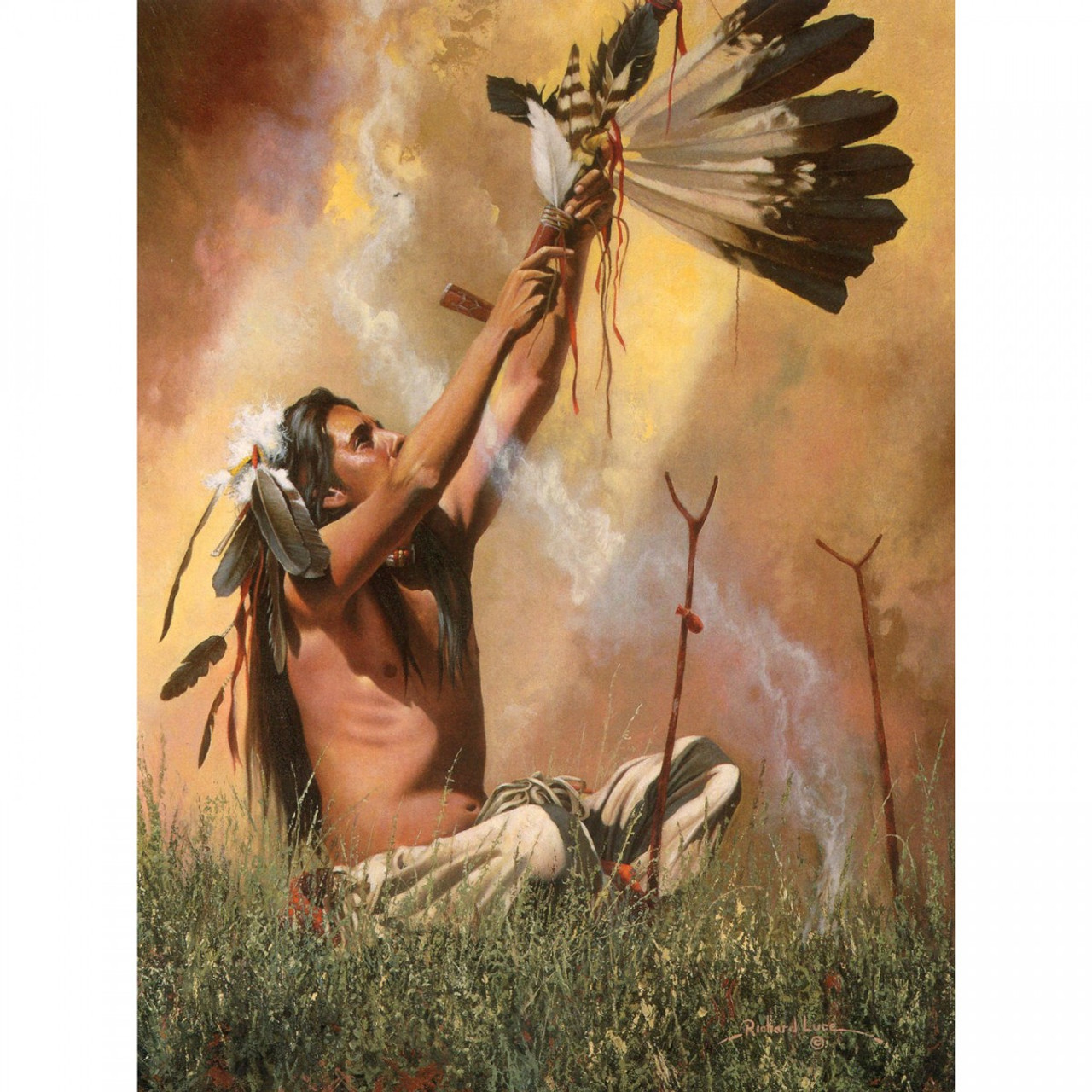 The Sacred Pipe Greeting Card (Birthday)