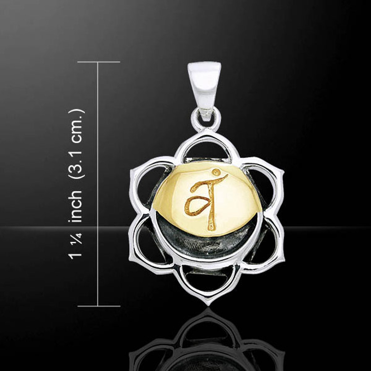 Sacral Chakra Pendant (Joy) - Sterling Silver & Gold