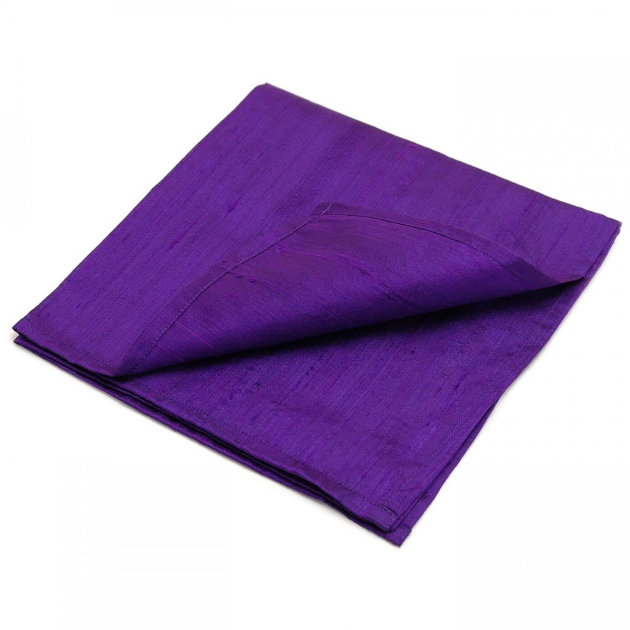 Large 100% SILK Reading Cloth - Purple (48 x 48 cm)