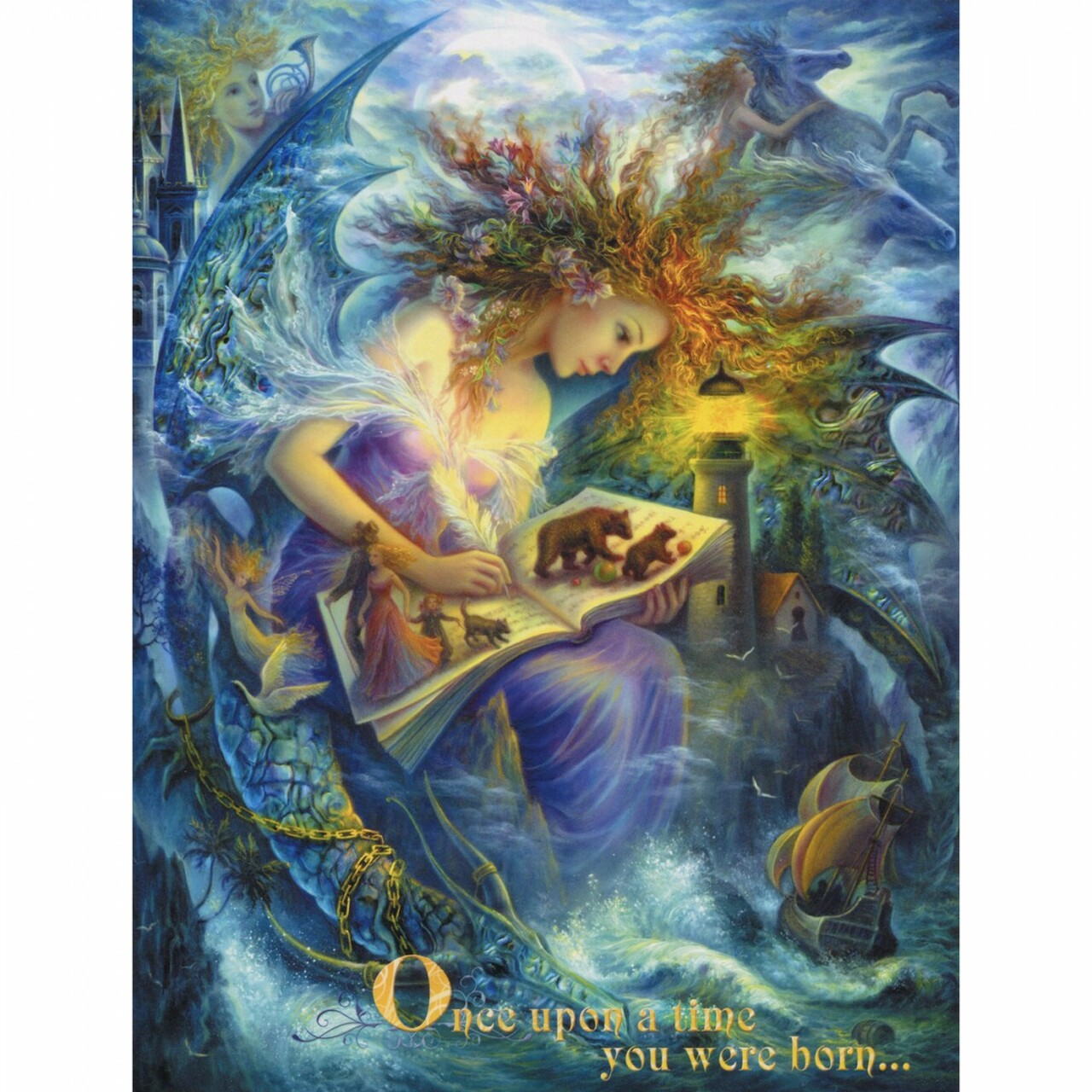 Once Upon A Time - Large Greeting Card (Birthday)