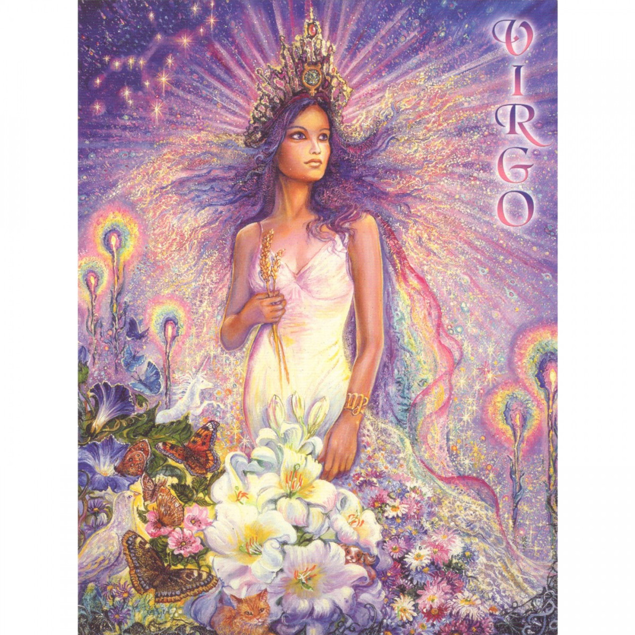 Virgo Greeting Card (August 23 - September 22) by Josephine Wall