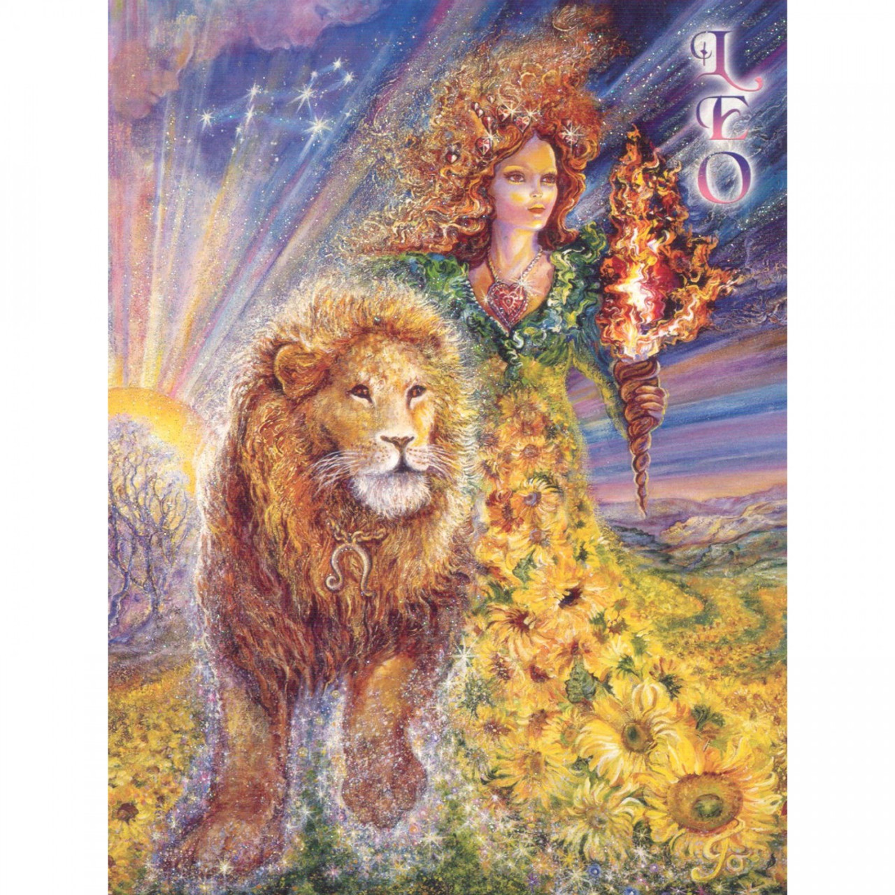 Leo Greeting Card (July 23 - August 22) by Josephine Wall