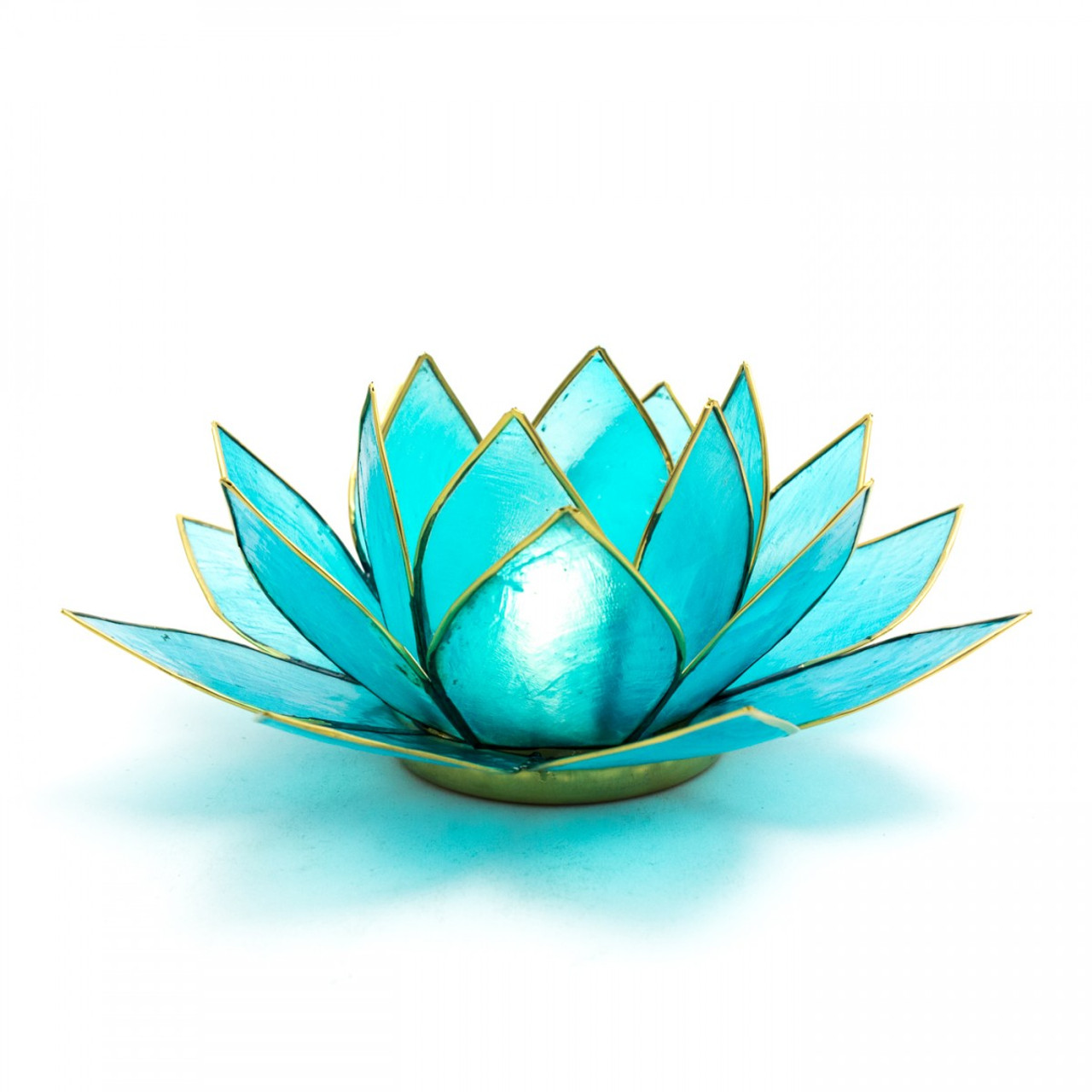 Blue Lotus Flower Tea Light Holder (Throat Chakra)