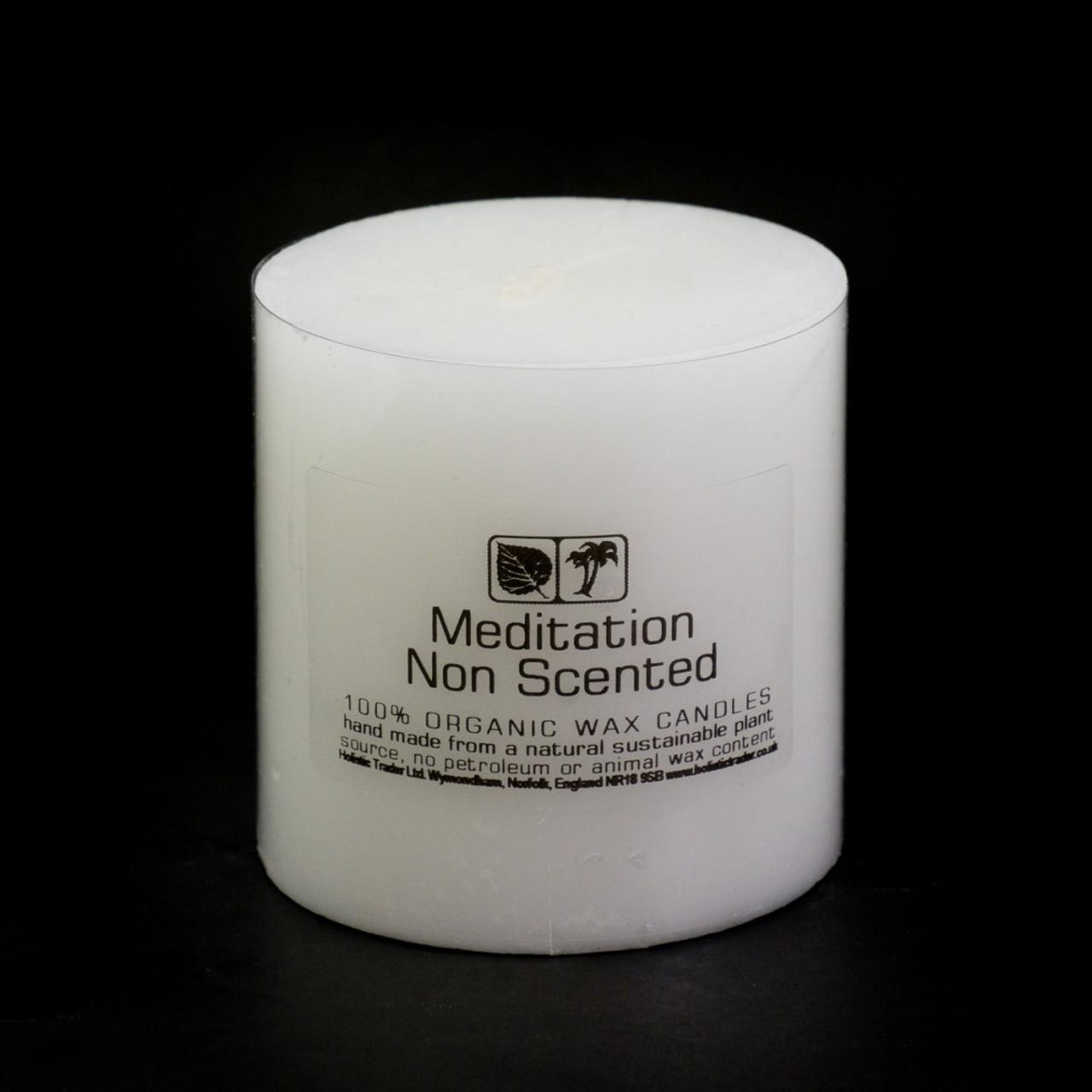 Medium Non Scented Meditation Candle (7.5x7.5cm)