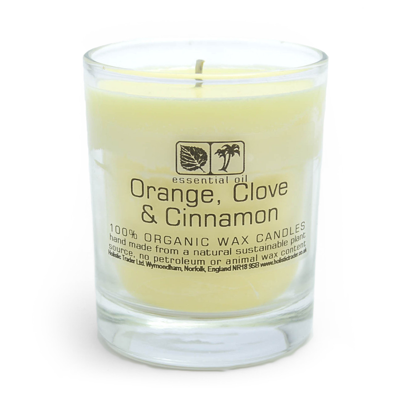 Orange & Cinnamon Aromatherapy Candle (Large, 40-50 Hours)
