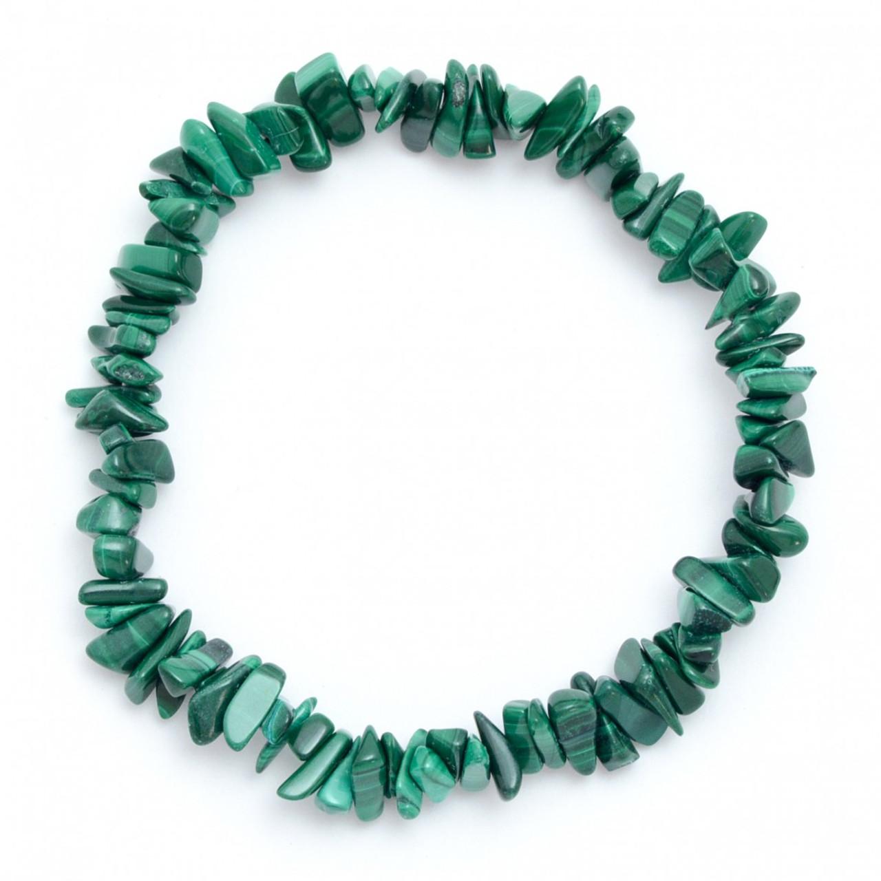 Malachite Crystal Chip Bracelet