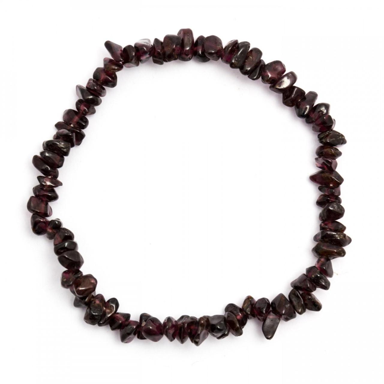 Red Garnet Crystal Chip Bracelet