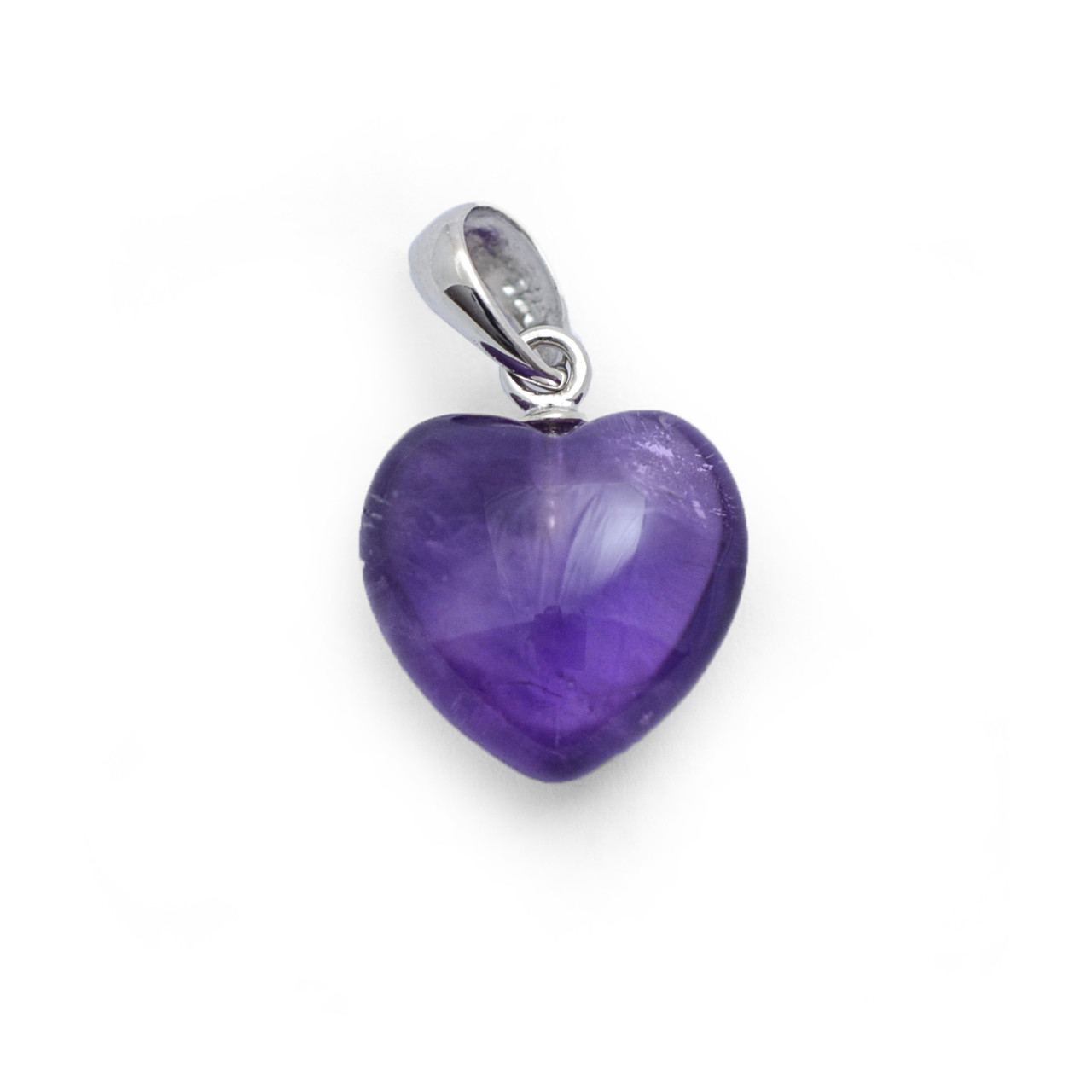 Baby Amethyst Crystal Heart Pendant