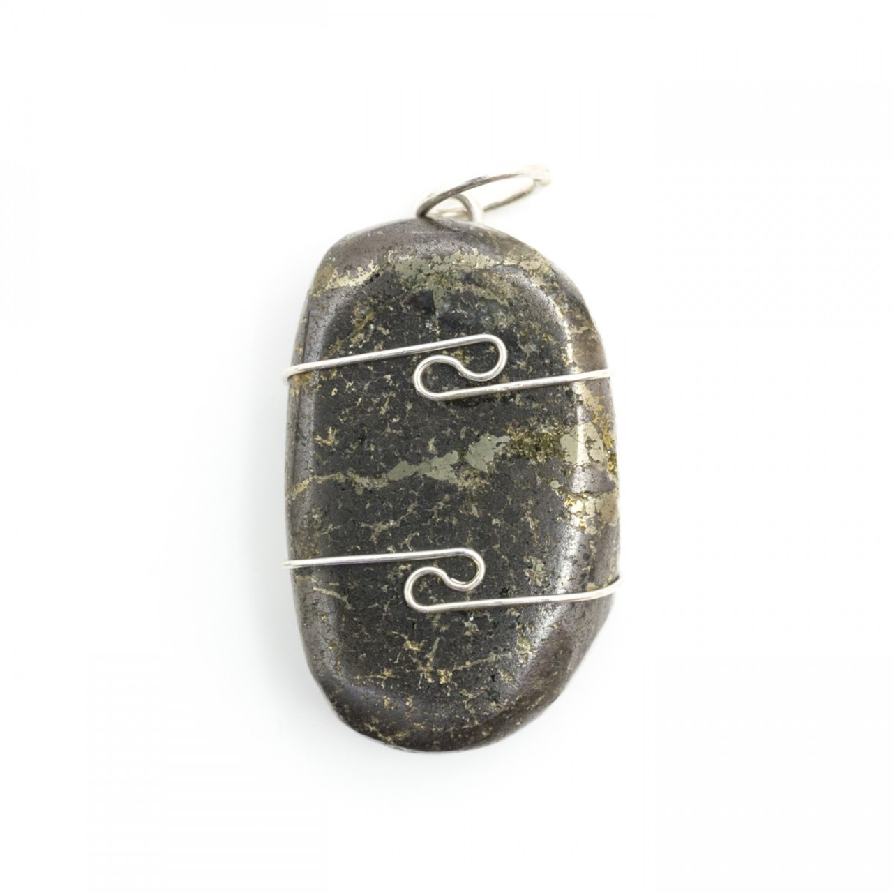 Healer's Gold Wire Wrap Silver Pendant