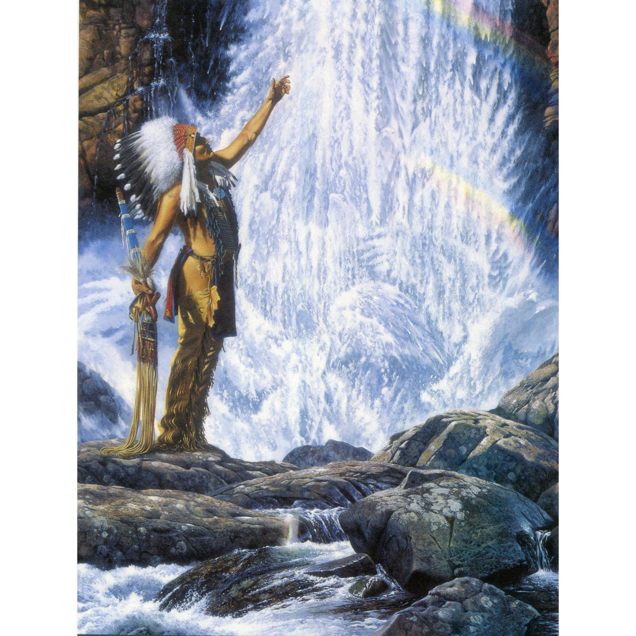 River of Life Greeting Card (Birthday) by Richard Luce
