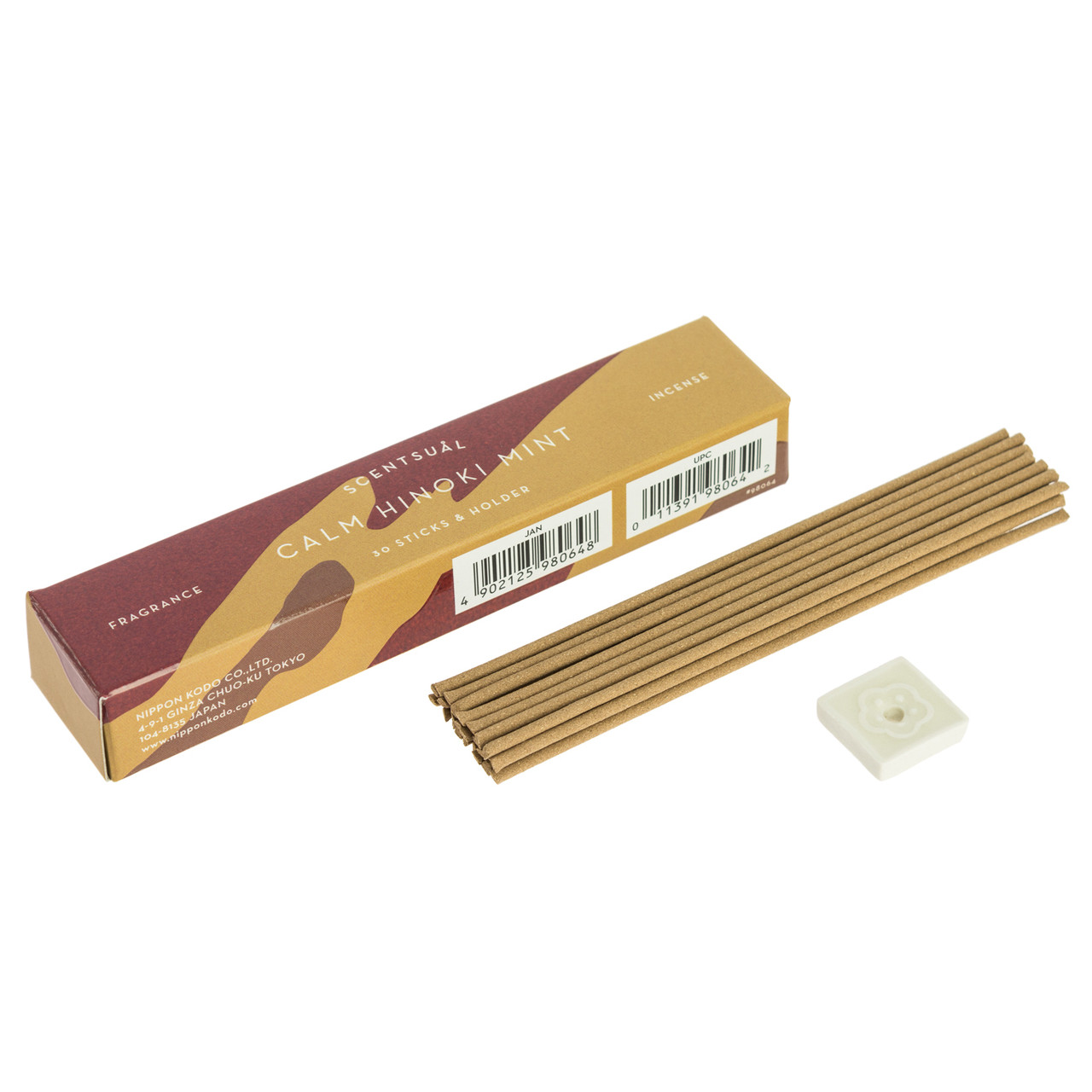 Scentsual Incense Calm Hinoki Mint Nippon Kodo