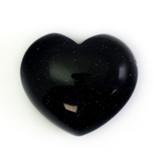Blue Goldstone Crystal Heart