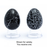 Snowflake Obsidian Crystal Egg (45mm tall)