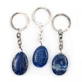 Lapis Lazuli Teardrop Crystal Keyring