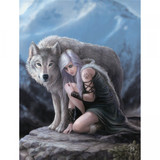 Protector Canvas Plaque (25 x 19cm) by Anne Stokes