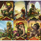 Whispers of Lord Ganesha Oracle Cards by Angela Hartfield