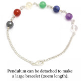 Banded Amethyst Chakra Dowsing Pendulum