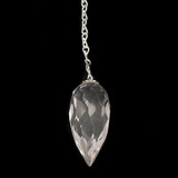 Faceted Clear Quartz Tear Drop Pendulum (Brazilian)
