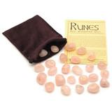 Rose Quartz Crystal Rune Stones