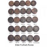 Wooden Rune Set (Elder Thurthark Runes)