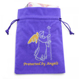Purple Protected by Angels Tarot/Angel Card Bag