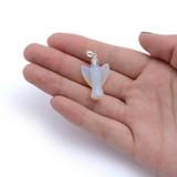 Small Opalite Angel Pendant (Sterling Silver Loop)