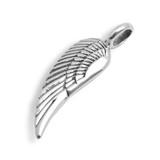 Single Angel Wing Pendant (Sterling Silver)