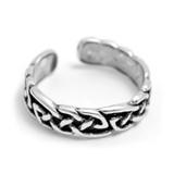 Celtic Design Toe Ring (Sterling Silver)