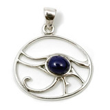 Eye of Horus Pendant with Lapis Lazuli (Sterling Silver)