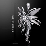 Amy Brown Firefly Fairy Pendant (Sterling Silver)