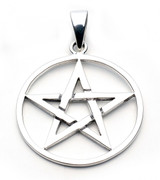 Large Pentacle Pendant (Sterling Silver)