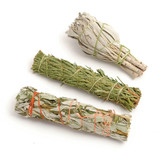Mini Smudge Sticks - Sage, Mugwort and Cedar