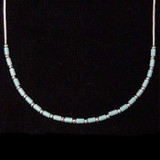 Liquid Silver Chain with Turquoise Beading Necklace