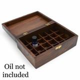 Ornate Wooden Aromatherapy Oil Box (24 oils)