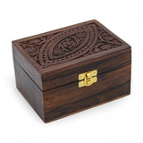 Ornate Wooden Aromatherapy Oil Box (12 Oils)