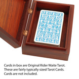 Hand-Carved Wooden Tarot Card Storage Box