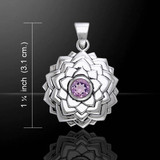 Crown Chakra (Eternal Bliss) Pendant with Amethyst Centre (Sterling Silver)